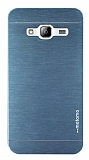 Motomo Samsung Galaxy J3 2016 Metal Lacivert Rubber Kılıf