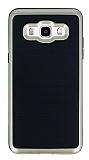 Motomo Samsung Galaxy J5 2016 Gold Kenarlı Siyah Silikon Kılıf