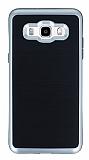 Motomo Samsung Galaxy J5 2016 Silver Kenarlı Siyah Silikon Kılıf