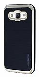 Motomo Samsung Galaxy J5 Gold Kenarlı Siyah Silikon Kılıf