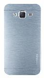 Motomo Samsung Galaxy J2 Metal Silver Rubber Kılıf