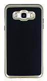Motomo Samsung Galaxy J7 2016 Gold Kenarlı Siyah Silikon Kılıf