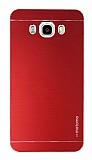 Motomo Samsung Galaxy J7 2016 Metal Kırmızı Rubber Kılıf