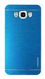 Motomo Samsung Galaxy J7 2016 Metal Mavi Rubber Kılıf
