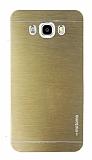 Motomo Samsung Galaxy J7 2016 Metal Gold Rubber Kılıf