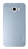 Motomo Samsung Galaxy J7 2016 Metal Silver Rubber Kılıf