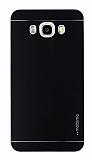 Motomo Samsung Galaxy J7 2016 Metal Siyah Rubber Kılıf