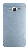 Motomo Samsung Galaxy J7 Metal Silver Rubber Kılıf