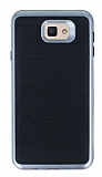 Motomo Samsung Galaxy J7 Prime Dark Silver Kenarlı Siyah Silikon Kılıf