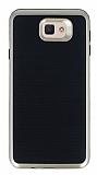 Motomo Samsung Galaxy J7 Prime Gold Kenarlı Siyah Silikon Kılıf