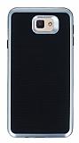 Motomo Samsung Galaxy J7 Prime Silver Kenarlı Siyah Silikon Kılıf
