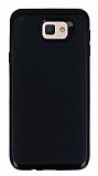 Motomo Samsung Galaxy J7 Prime Siyah Kenarlı Siyah Silikon Kılıf