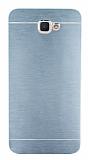 Motomo Samsung Galaxy J7 Prime Metal Silver Rubber Kılıf