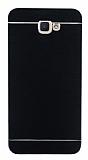 Motomo Samsung Galaxy J7 Prime Metal Siyah Rubber Kılıf