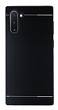 Motomo Samsung Galaxy Note 10 Silikon Kenarlı Siyah Metal Kılıf