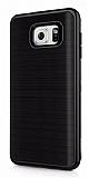 Motomo Samsung Galaxy Note 5 Siyah Kenarlı Siyah Silikon Kılıf