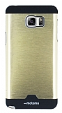 Motomo Round Samsung Galaxy Note 5 Metal Gold Rubber K�l�f