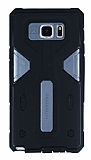Motomo Samsung Galaxy Note 5 Ultra Koruma Dark Silver Kılıf