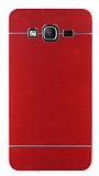 Motomo Samsung Galaxy On5 Metal Kırmızı Rubber Kılıf