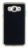 Motomo Samsung Galaxy On7 Gold Kenarlı Siyah Silikon Kılıf