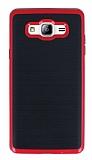 Motomo Samsung Galaxy On7 Kırmızı Kenarlı Siyah Silikon Kılıf