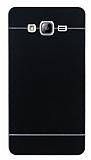 Motomo Samsung Galaxy On7 Metal Siyah Rubber Kılıf