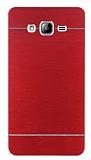 Motomo Samsung Galaxy On7 Metal Kırmızı Rubber Kılıf