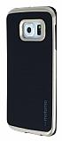 Motomo Samsung Galaxy S6 Edge Gold Kenarlı Siyah Silikon Kılıf