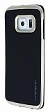Motomo Samsung Galaxy S6 Edge Plus Gold Kenarl� Siyah Silikon K�l�f
