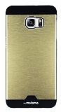 Motomo Round Samsung Galaxy S6 Edge Plus Metal Gold Rubber Kılıf