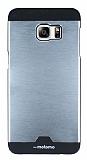 Motomo Round Samsung Galaxy S6 Edge Plus Metal Silver Rubber Kılıf