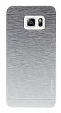 Motomo Samsung Galaxy S6 Edge Plus Metal Silver Rubber Kılıf