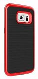 Motomo Samsung Galaxy S7 Edge K�rm�z� Kenarl� Siyah Silikon K�l�f