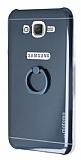 Motomo Samsung Galaxy J7 Selfie Yüzüklü Silikon Siyah Kılıf