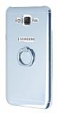 Motomo Samsung Galaxy J7 Selfie Yüzüklü Silikon Silver Kılıf