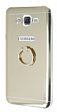 Motomo Samsung Galaxy J7 Selfie Yüzüklü Silikon Gold Kılıf