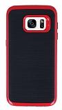 Motomo Samsung Galaxy S7 Kırmızı Kenarlı Siyah Silikon Kılıf