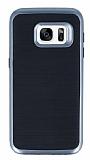 Motomo Samsung Galaxy S7 Dark Silver Kenarlı Siyah Silikon Kılıf