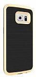 Motomo Samsung Galaxy S7 Gold Kenarlı Silikon Kılıf