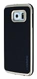 Motomo Samsung i9800 Galaxy S6 Gold Kenarlı Siyah Silikon Kılıf