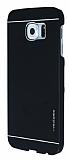 Motomo Samsung i9800 Galaxy S6 Metal Siyah Rubber Kılıf