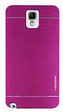 Motomo Samsung N7500 Galaxy Note 3 Neo Metal Pembe Kılıf