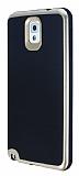Motomo Samsung N9000 Galaxy Note 3 Gold Kenarlı Siyah Silikon Kılıf