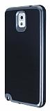 Motomo Samsung N9000 Galaxy Note 3 Dark Silver Kenarlı Siyah Silikon Kılıf