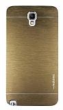 Motomo Samsung N7500 Galaxy Note 3 Neo Metal Gold K�l�f