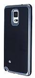 Motomo Samsung N9100 Galaxy Note 4 Dark Silver Kenarlı Siyah Silikon Kılıf