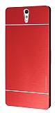 Motomo Sony Xperia C5 Ultra Metal Kırmızı Rubber Kılıf