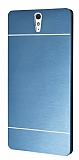 Motomo Sony Xperia C5 Ultra Metal Lacivert Rubber Kılıf