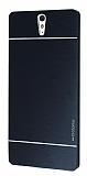 Motomo Sony Xperia C5 Ultra Metal Siyah Rubber Kılıf