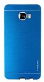 Motomo Samsung Galaxy C7 SM-C7000 Metal Mavi Rubber Kılıf